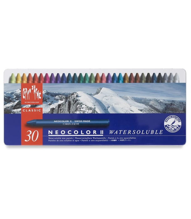 Акварельная пастель Caran d'Ache Neocolor II Watersoluble (30 цветов)