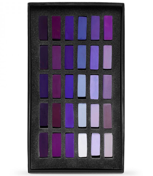 Пастель Terry Ludwig Soft Pastels - Ultra Violets (30 штук)