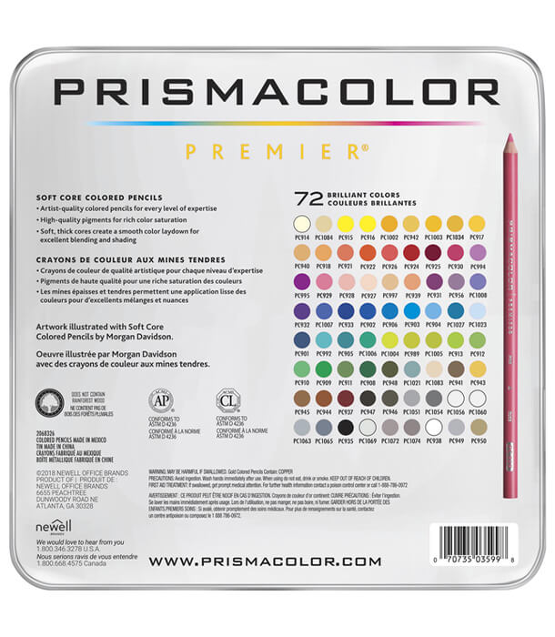 Набор карандашей Prismacolor Premier (72 штуки)