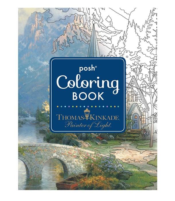 Раскраска Posh Coloring Books от Thomas Kinkade Studios