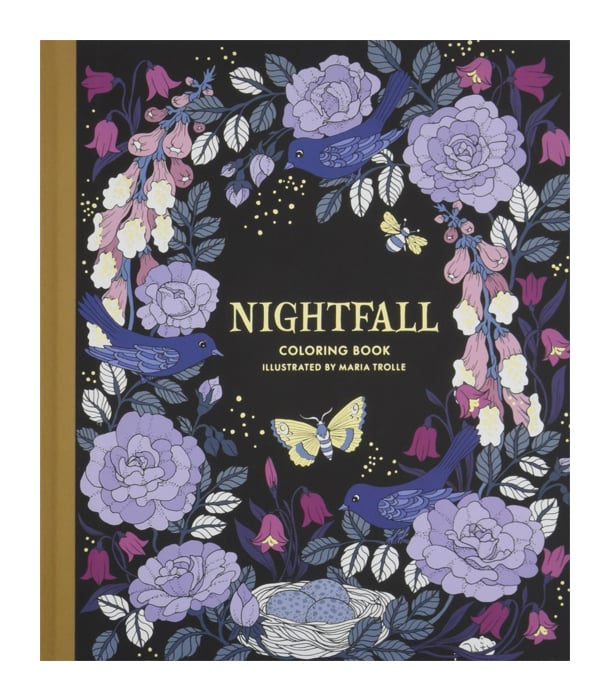 Раскраска Nightfall Coloring Book от Maria Trolle (изд. Gibbs Smith США)