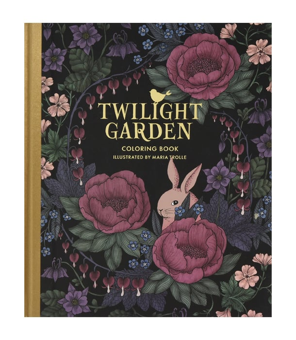 Раскраска Twilight Garden Coloring Book от Maria Trolle (изд. Gibbs Smith США)