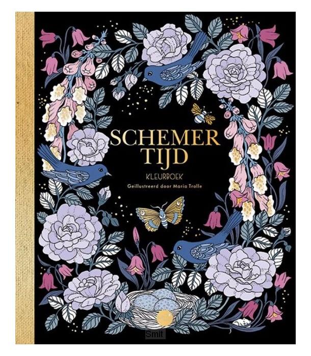 Раскраска Schemertijd от Maria Trolle (изд. BBNC Uitgevers Нидерланды)