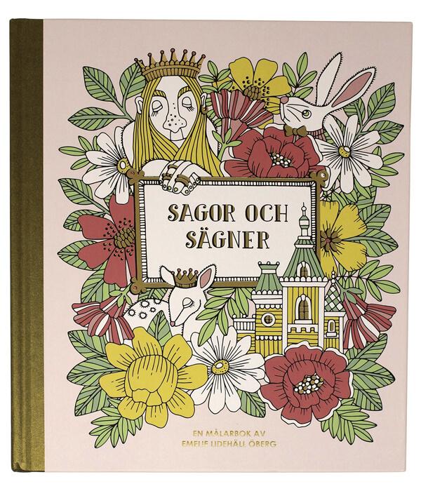 Раскраска Sagor och sägner от Emelie Lidehäll Öberg (изд. Pagina Group AB Швеция)
