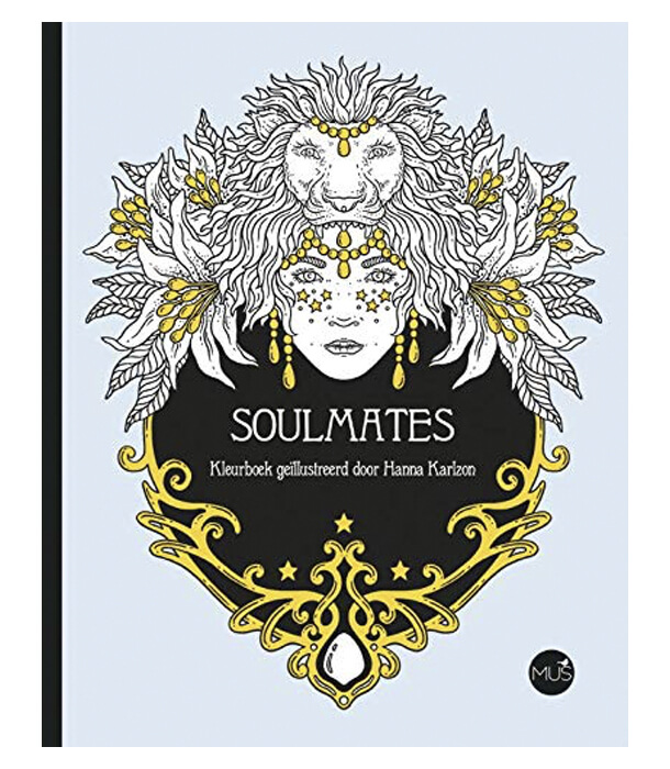 Раскраска Soulmates от Hanna Karlzon (изд. BBNC Uitgevers Нидерланды)