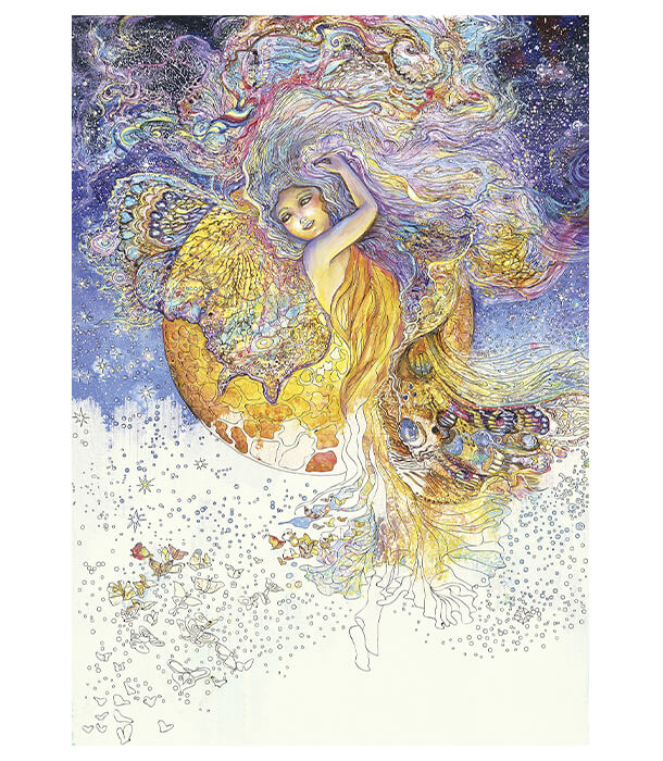 Раскраска Enchanted Fairies от Josephine Wall (изд. Llewellyn Publications Англия)