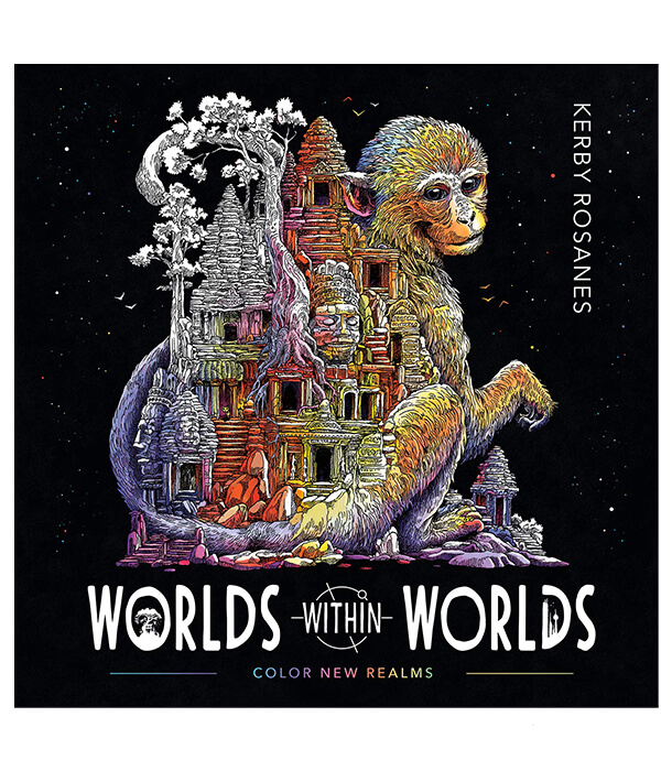 Раскраска Worlds Within Worlds от Kerby Rosanes (изд. Plume Америка)
