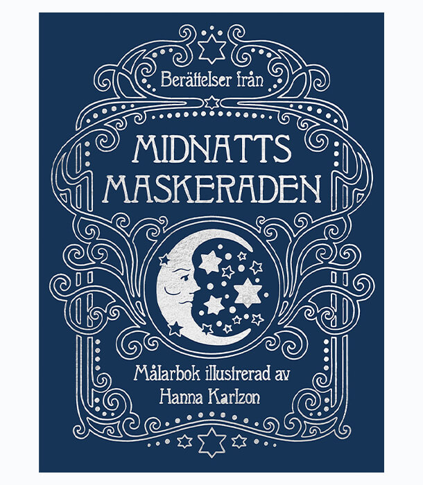 Раскраска Middernacht Maskerade от Hanna Karlzon (изд. BBNC Uitgevers Нидерланды)