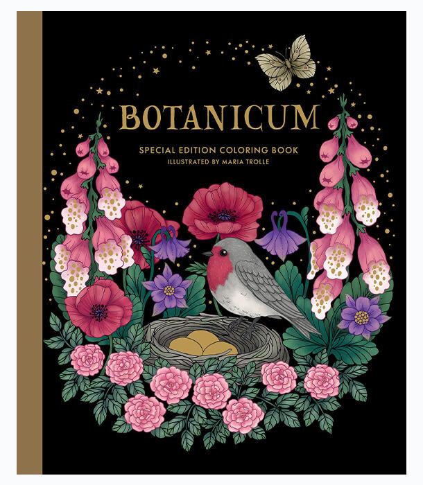 Раскраска Botanicum Special Edition от Maria Trolle (изд. Gibbs M. Smith Inc Англия)