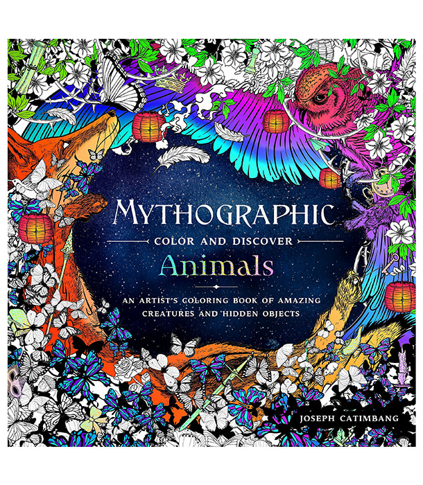 Раскраска Mythographic Color and Discover: Animals от Joseph Catimbang (изд. Castle Point Books США)