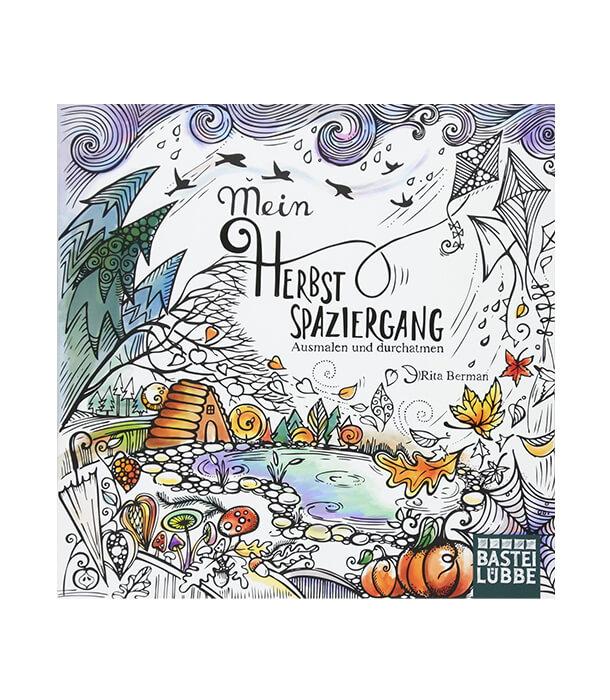 Раскраска Mein Herbstspaziergang: Ausmalen und durchatmen от Rita Berman (изд. Lübbe Германия)