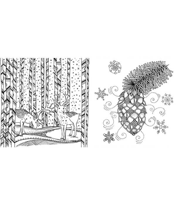 Раскраска Mein Winterspaziergang: Ausmalen und durchatmen от Rita Berman (изд. Lübbe Германия)