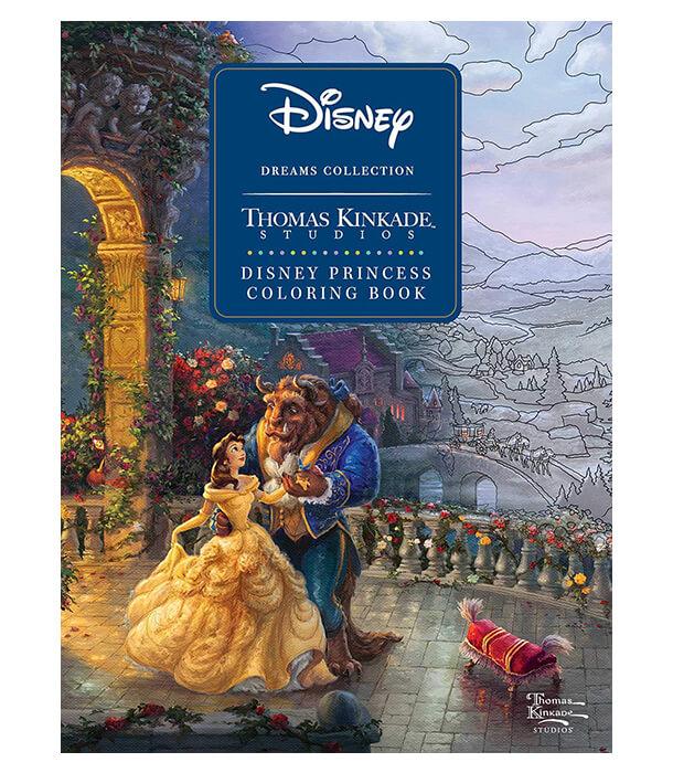 Раскраска Disney Princess Coloring Book от Thomas Kinkade Studios