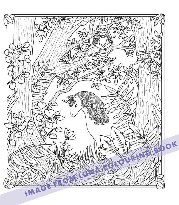 Раскраска Luna от Maria Trolle (изд. BBNC Uitgevers Нидерланды)