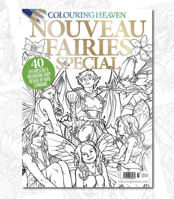 Раскраска Nouveau Fairies Special (изд. Anthem Publishing Англия)