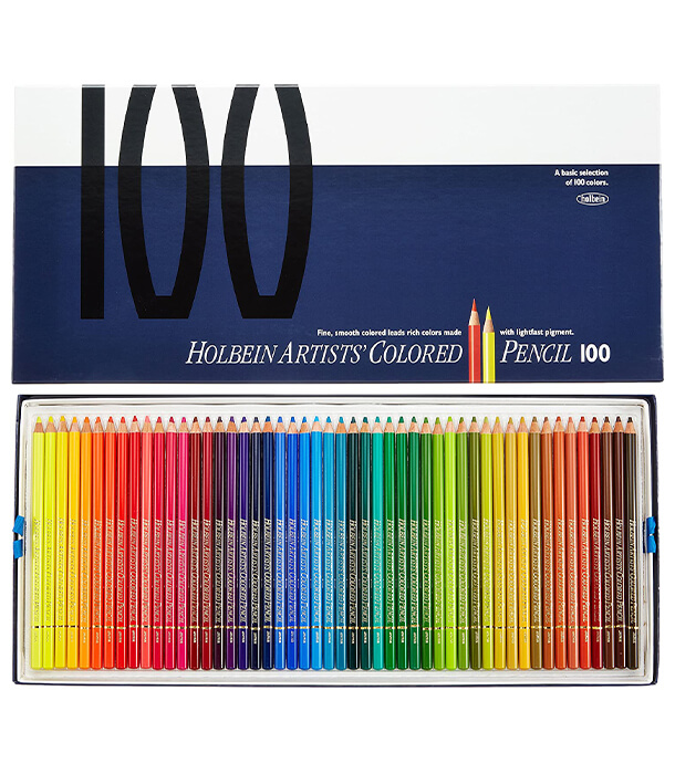 Набор карандашей Holbein Artists' Coloured Pencil (100 штук)