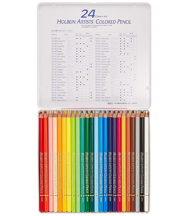 Набор карандашей Holbein Artists' Coloured Pencil Pastel Set (24 штуки)