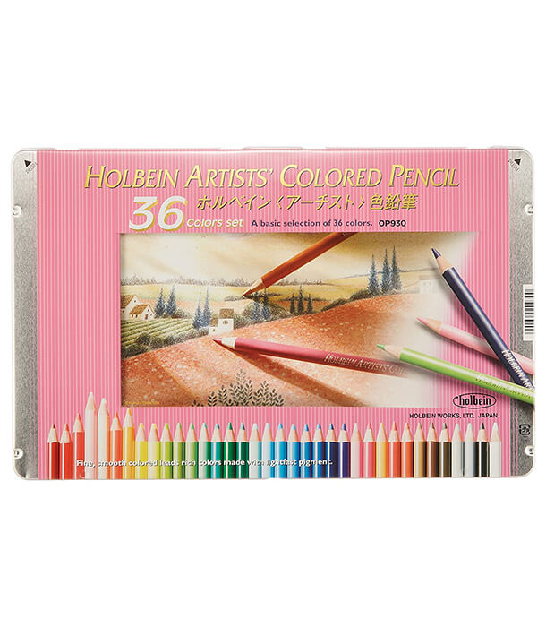 Набор карандашей Holbein Artists' Coloured Pencil Pastel Set (36 штук)