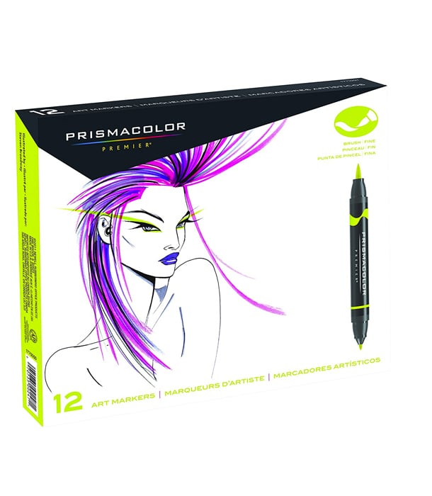 Маркеры Prismacolor Premier Double-Ended Art Markers, Fine and Brush Tip (12 штук)