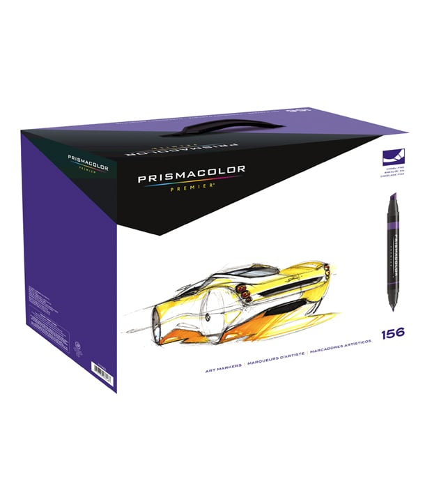 Маркеры Prismacolor Premier Double-Ended Art Markers, Fine and Chisel Tip (156 штук)
