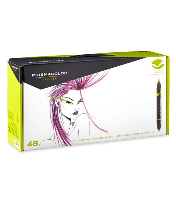 Маркеры Prismacolor Premier Double-Ended Art Markers, Fine and Brush Tip (48 штук)
