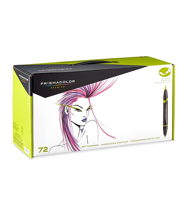 Маркеры Prismacolor Premier Double-Ended Art Markers, Fine and Brush Tip (72 штук)
