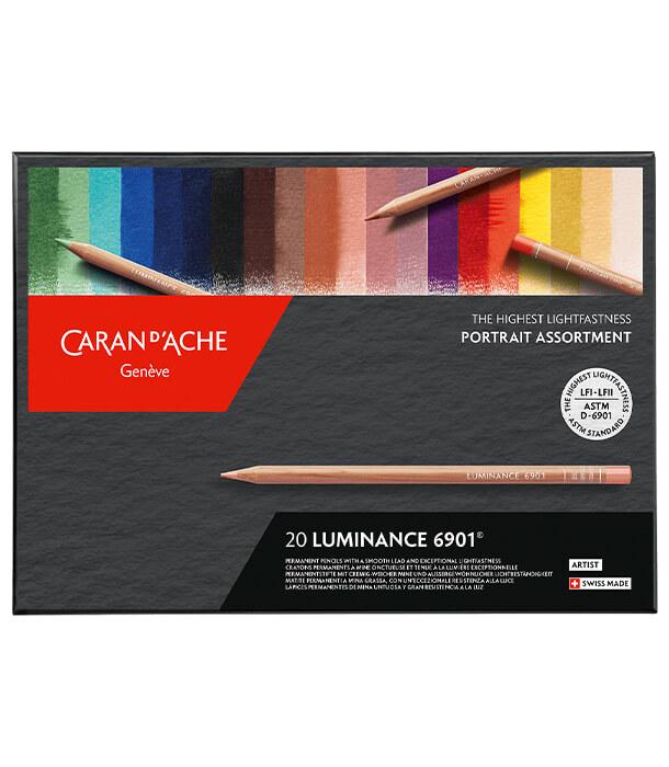 Caran d'Ache Luminance 6901 Portrait Colours (20 цветов)