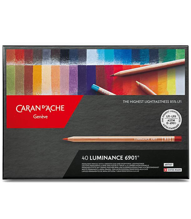 Caran d'Ache Luminance 6901 (40 цветов)