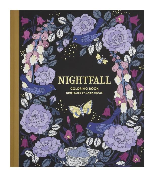 Раскраска Nightfall Coloring Book от Maria Trolle (изд. Gibbs Smith США)