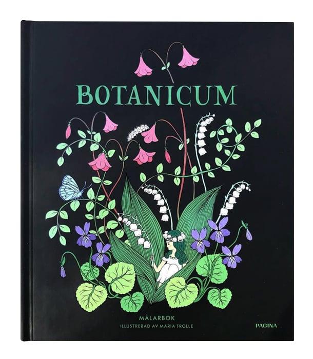 Раскраска Botanicum от Maria Trolle (изд. Pagina Group AB Швеция)