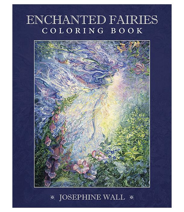 Раскраска Enchanted Fairies от Josephine Wall (изд. Llewellyn Publications Англия)