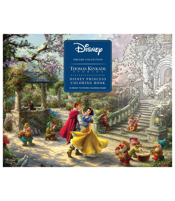 Раскраска Disney Dreams Collection от Thomas Kinkade (изд. Andrews McMeel Publishing США)