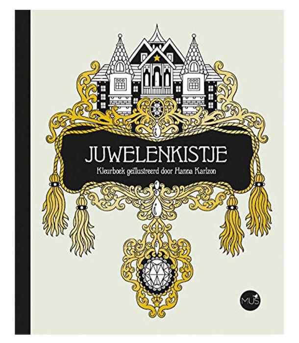 Раскраска Juwelenkistje от Hanna Karlzon (изд. BBNC Uitgevers Нидерланды)