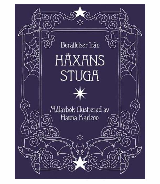 Раскраска Berättelser från häxans stuga от Hanna Karlzon (изд. Tukan förlag Швеция)