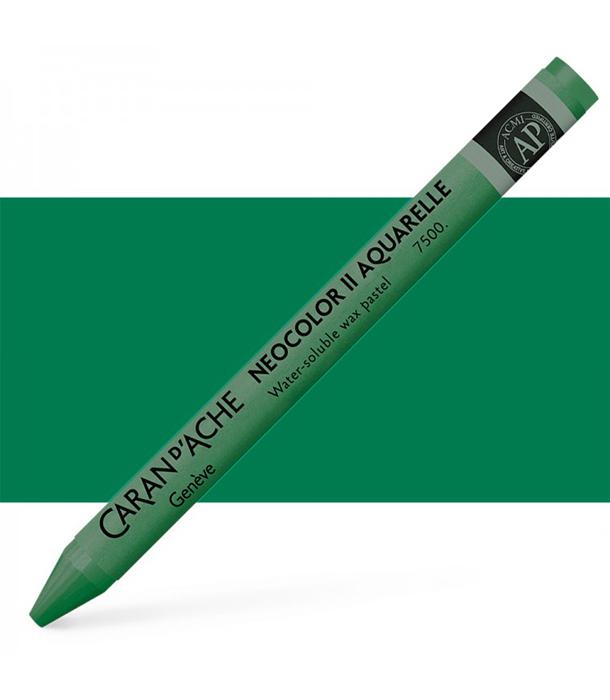 Акварельная пастель Caran d'Ache Neocolor II 710 Phthalo Green