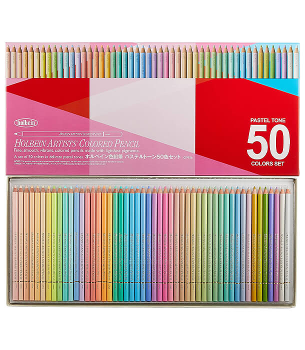 Набор карандашей Holbein Artists' Coloured Pencil Pastel Set (50 штук)