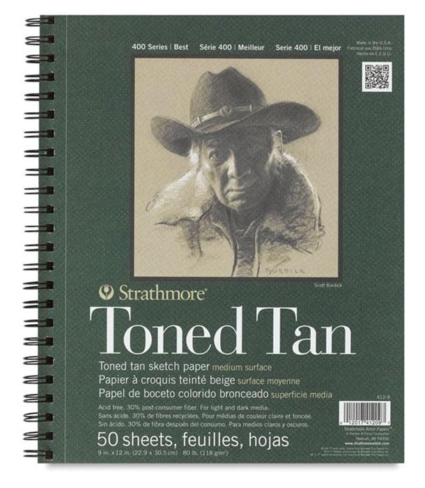 Альбом Strathmore Series 400 Toned Tan 9 × 12