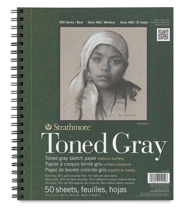 Альбом Strathmore Series 400 Toned Gray 9 × 12