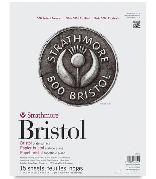 Альбом Strathmore 500 Series Bristol Plate Surface 11 × 14