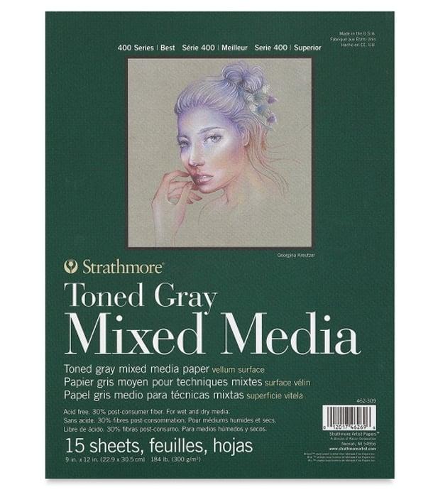 Альбом Strathmore 400 Series Toned Gray Mixed Media