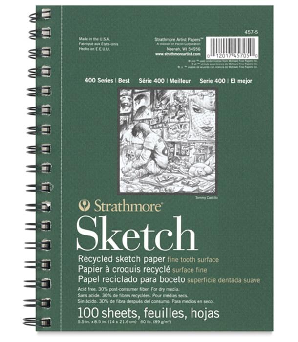 Альбом Strathmore Series 400 Recycled Sketch 5.5 × 8.5