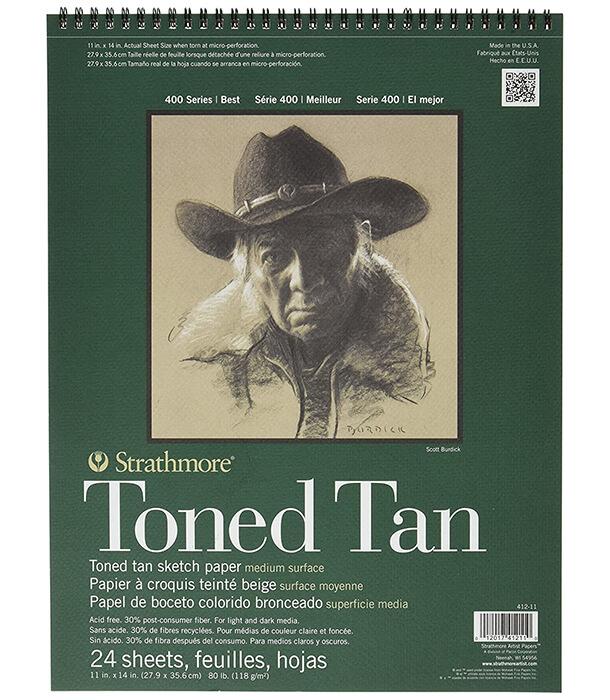 Альбом Strathmore Series 400 Toned Tan 11 × 14