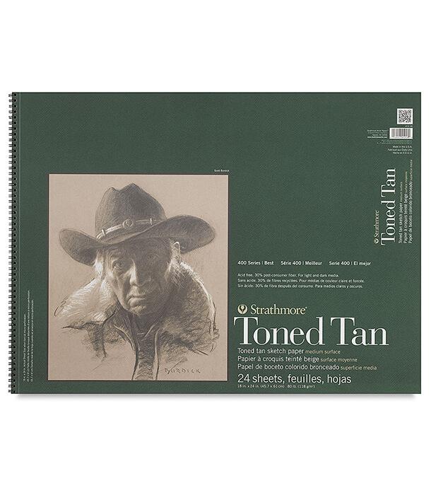 Альбом Strathmore Series 400 Toned Tan 18 × 24