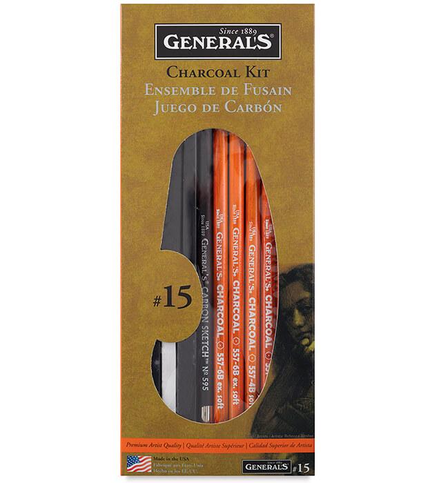 Набор General's Charcoal Pencil Drawing Kit No. 15