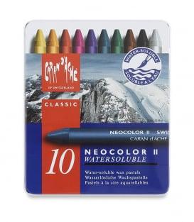 Акварельная пастель Caran d'Ache Neocolor II Watersoluble (10 цветов)