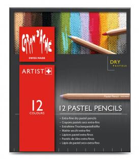 Пастельные карандаши Caran D'ache Pastel Pencils (12 штук)