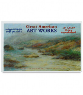 Пастель Great American Art Works Gray Box (18 штук)