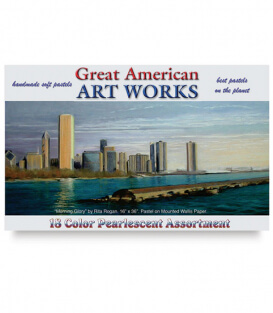 Пастель Great American Art Works Pearlescent (18 штук)