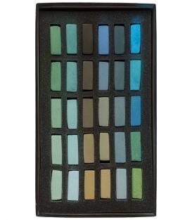 Пастель Terry Ludwig Soft Pastels - Cool Greens (30 штук)
