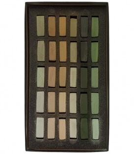 Пастель Terry Ludwig Soft Pastels - Neutral Greens (30 штук)